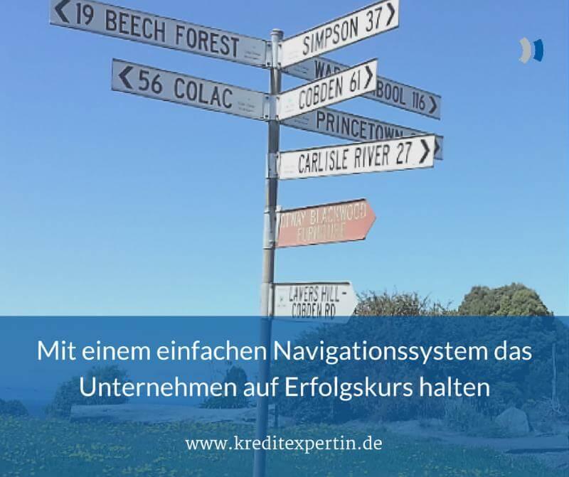 Mit einem einfachen Navigationssystem das Unternehmen auf Erfolgskurs halten